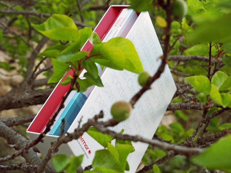 Libros con cajas contendoras